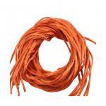 Kupfer 10 Baumwolle Bänder umhüllt von Seide Durchmesser ca.2.5 mm. Länge  ca. 100 cm.