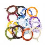Set in allen 15 Farben Baumwolle Bänder umhüllt von Seide Durchmesser ca.2.5 mm. Länge ca. 1 m.