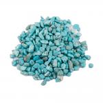 Magnesit gef. Türkis Nachbildung Trommelstein 450 g. Zierkies Steinchengröße ca. 0.5 - 1 cm