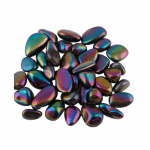 Bergkristall Aqua Aura Titanium bedampft 1 kg. Trommelsteine 2- 3 cm.