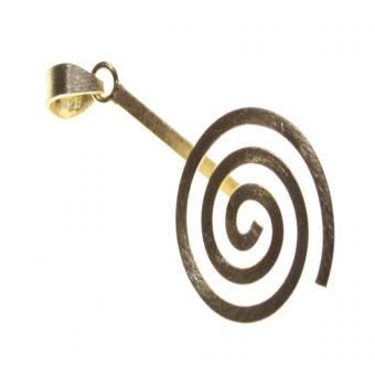 Donuthalter 1 Spirale 925 Silber matt vergoldet 3 - 3.5 cm. Donut