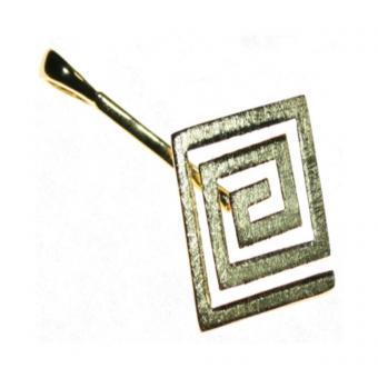 Donuthalter 1 quadratisch in 925 Silber vergoldet matt optimal für 3 - 4 cm Donut