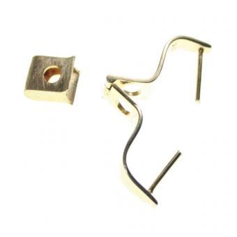 Lochstein 1 Wechsel Halter 925 zum Klappen Kappe ist Matt für Lochsteine bis 2 cm.