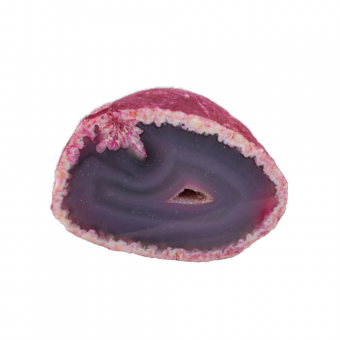 Achat mit Geode 1 Unikat sein Gewicht hat 373 g.