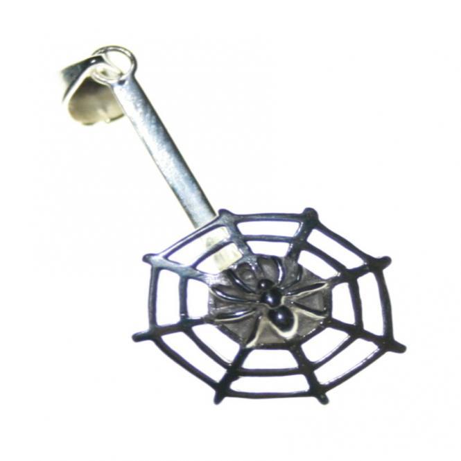 Donuthalter 1 Spinnennetz 925 Silber optimal für 3 - 4.5 cm. Donut
