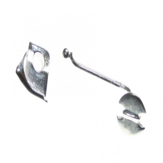 Donuthalter 1 Wechselsystem Ascia in 925 Silber Ideal für Front gebohrte Steine oder Donut