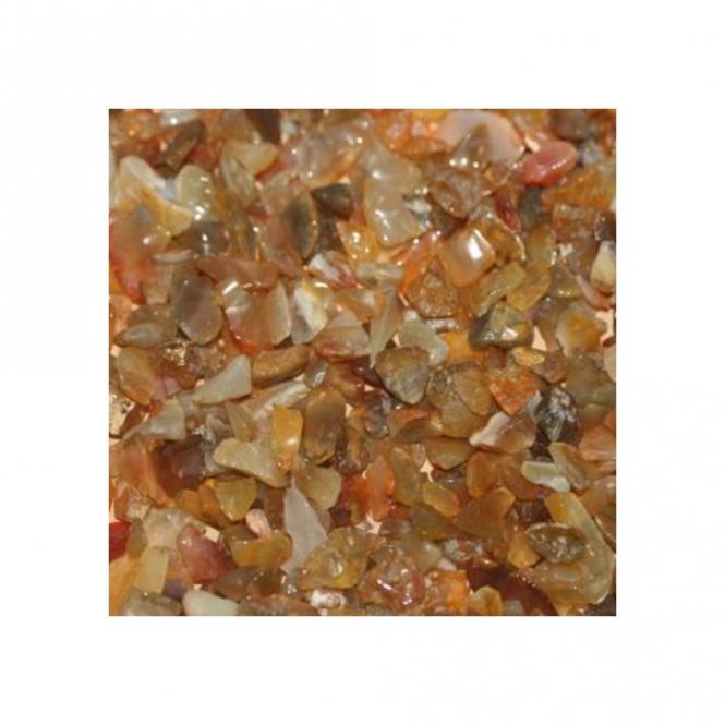 Achat Gelb Trommelsteine 1 Kg. Zierkies Splitter Steingröße ca. 8 - 15 mm