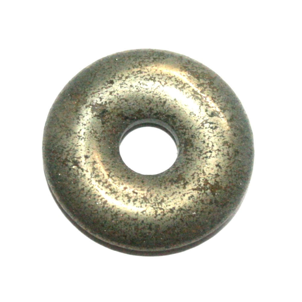 Schungit 1 Donut ca.30 mm`` Mineralien Stein Schmuck Deko Fossilien Schön